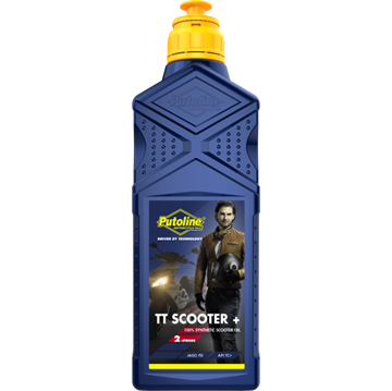Afbeeldingen van Putoline TT scooter + 2 T olie vol synt.