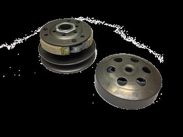 Afbeeldingen van Koppeling Achter compleet GY6 107mm met nok (AGM, BTC, Turbho)
