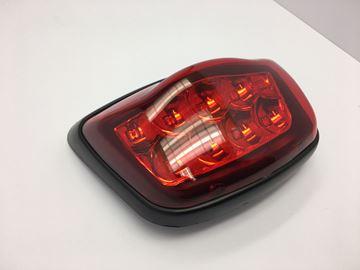 Afbeeldingen van OP=OP Achterlicht LED compleet met mat zwarte rand voor model VX50 vespa look a like OP=OP