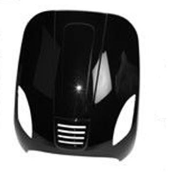 Afbeeldingen van Voorscherm boven glans zwart AGM VX50, BTC RIVA, Turbho RL50, LA Souris Vespelini, DJJD Cashmere, GTS Toscana look a like Vespa LX/S