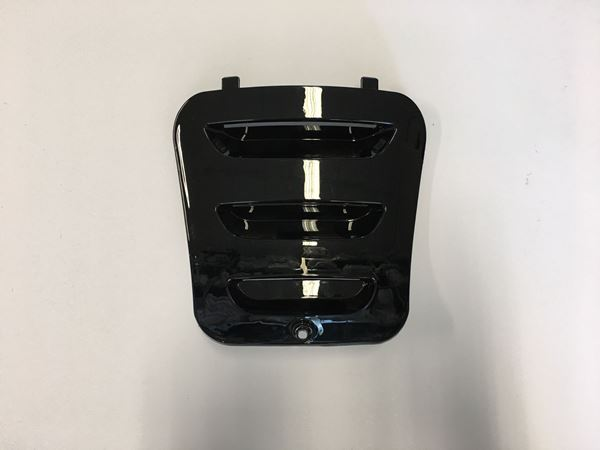 Afbeelding van Deksel naar motor glans zwart VX50 look a like Vespa LX/S