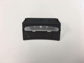 Afbeeldingen van Kentekenplaatverlichting kapje mat zwart VX50 look a like Vespa LX/S
