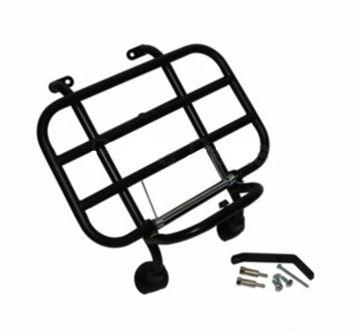 Afbeeldingen van Klapdrager mat zwart voorkant voor model VX50, Riva, Lux en vespelini look a like Vespa LX
