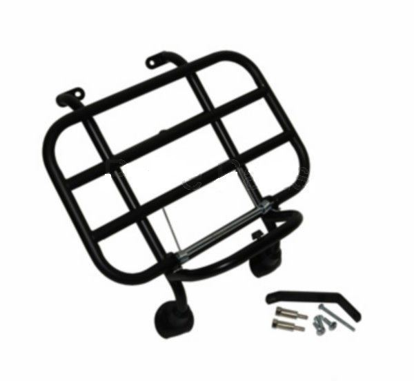 Afbeelding van Klapdrager mat zwart voorkant voor model VX50, Riva, Lux en vespelini look a like Vespa LX