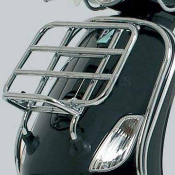 Afbeeldingen van Klapdrager chroom voorkant voor model VX50, Riva, Lux en vespelini look a like Vespa LX