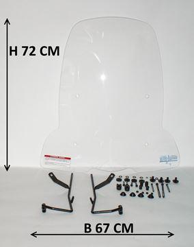 Afbeeldingen van Windscherm hoog 72cm voor Peugeot Kisbee (ook voor sportline, RS en Black edition)