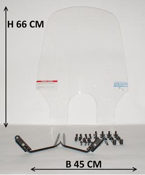 Afbeeldingen van Windscherm hoog 66cm voor SYM Allo en Cello