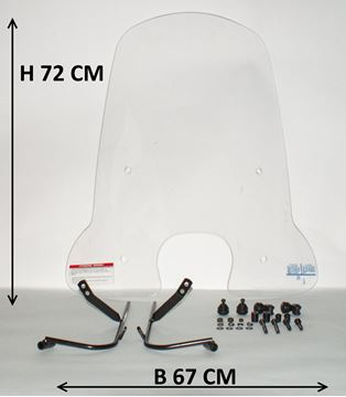 Afbeeldingen van Windscherm hoog 72cm voor SYM Fiddle 3