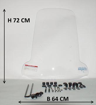 Afbeeldingen van Windscherm hoog 72cm Yamaha Neo's imitatie geschikt voor modellen na 2008 tot 2013