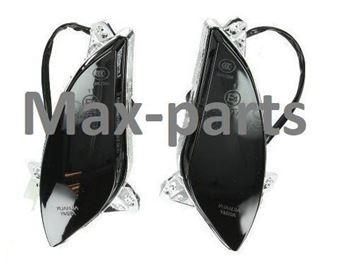 Afbeeldingen van Knipperlicht set voorkant SMOKE voor model VX50 vespa look a like