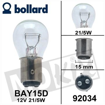 Picture of Lamp 12V 21/5W Duplo BAY15D