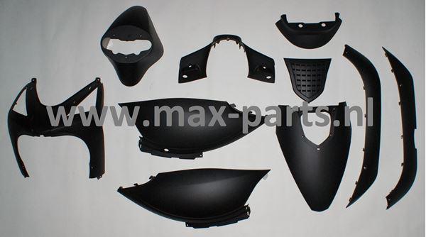 Picture of Kappen set mat zwart SP50, Streetline, look a like zip