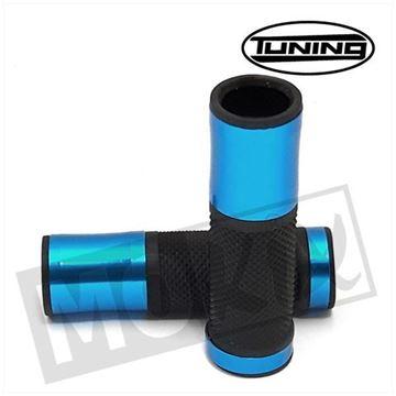 Afbeeldingen van Handvatten set L+R Tuning zwart en blauw