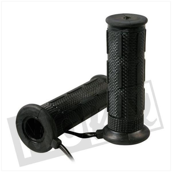 Afbeelding van Handvatten set L+R Lampa met verwarming zwart 22/25mm