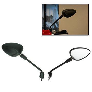 Afbeeldingen van Spiegel set Vespa Sprint mat zwart lang met E-keur