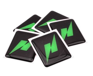 Picture of THNDR sticker N logo in plaats van Vespa embleem 37x45mm