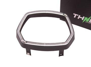 Afbeeldingen van THNDR koplamprand met LED glans zwart voor Vespa Sprint
