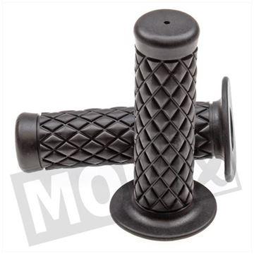 Afbeeldingen van Handvatten set L+R dama zwart luxe ruit PVC