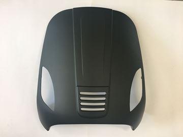 Afbeeldingen van Voorscherm boven mat zwart AGM VX50, BTC RIVA, Turbho RL50, LA Souris Vespelini, DJJD Cashmere, GTS Toscana look a like Vespa LX/S