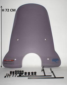 Afbeeldingen van Licht beschadigd Windscherm hoog smoke AGM Swan, BTC Riva 2 en Turbho RP-50