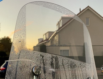 Afbeeldingen van Windscherm waterafstotende folie 34cm x 21cm Drive Hydro
